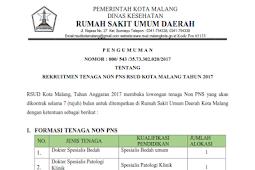 83 Lowongan Kerja RSUD Kota Malang Pendidikan Minimal SMA/SMK