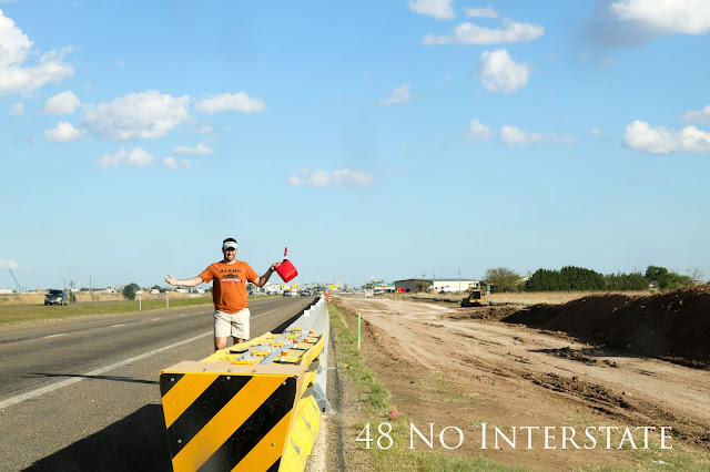 48 No Interstate back roads cross country coast-to-coast road trip running out of Gas Texas
