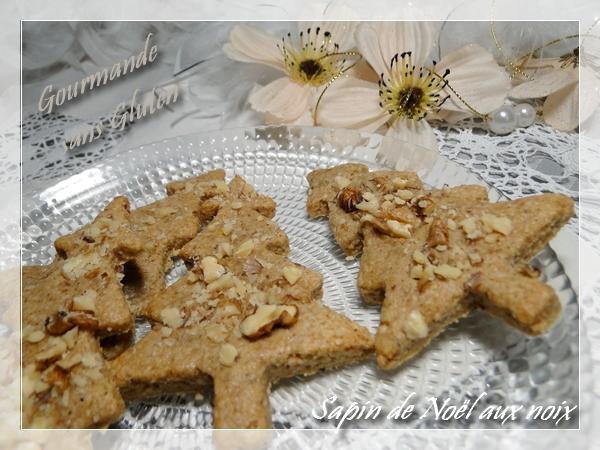 Sapin de Noël aux noix - Biscuits de l'Avent sans gluten