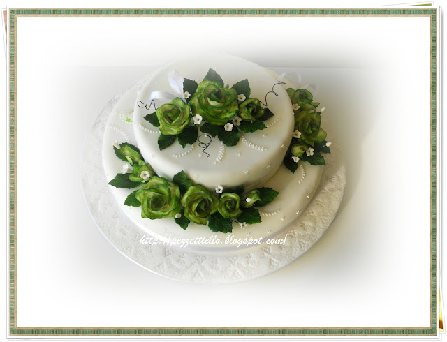 Verdi rose - Green Roses cake,