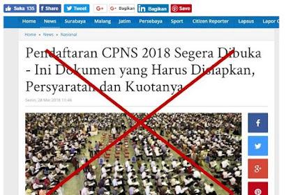 Benarkah Informasi CPNS 2018 ? Ini kata MENPAN RB