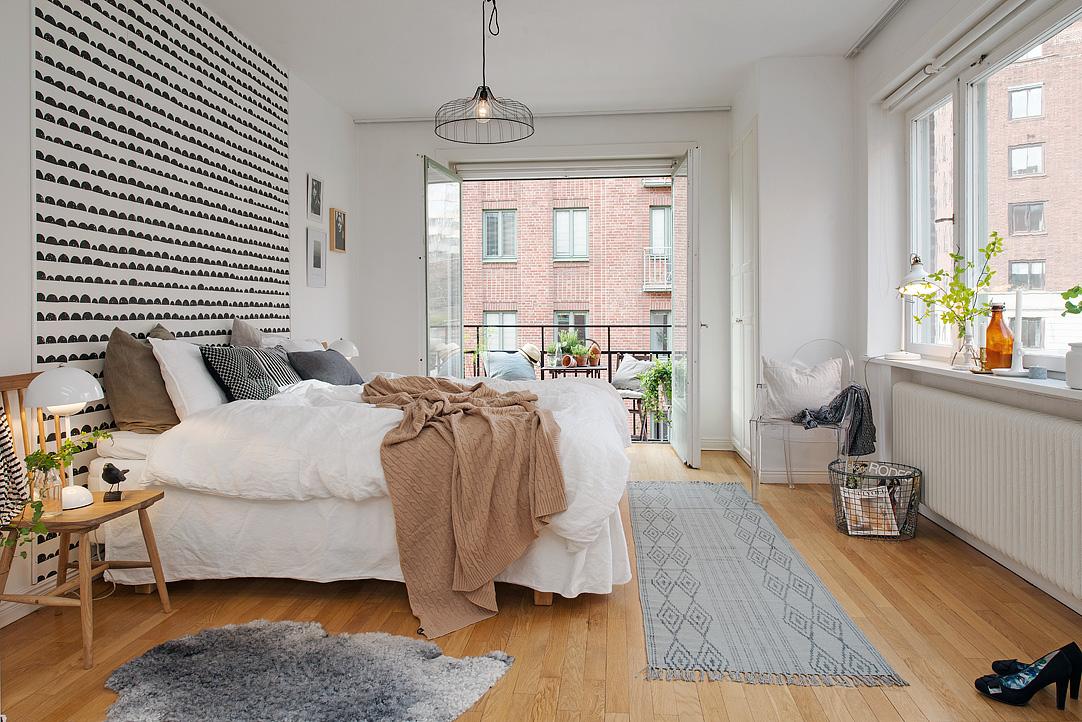 Una pizca de hogar piso 10 minimalista con toques retros for Salones para pisos