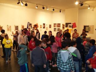 Alunos do CENSF em visita guiada à exposição 'Olhar Digital', na Casa de Cultura Adolpho Bloch