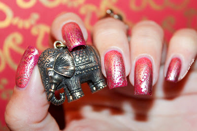 India Bollywood Nail Art