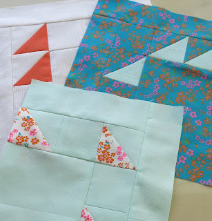 2016 Finish-Along - Quarter #3 list - Peach and aqua quilt