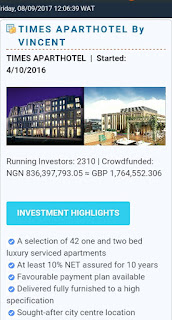 Wintrills Crowdfunding Investment log