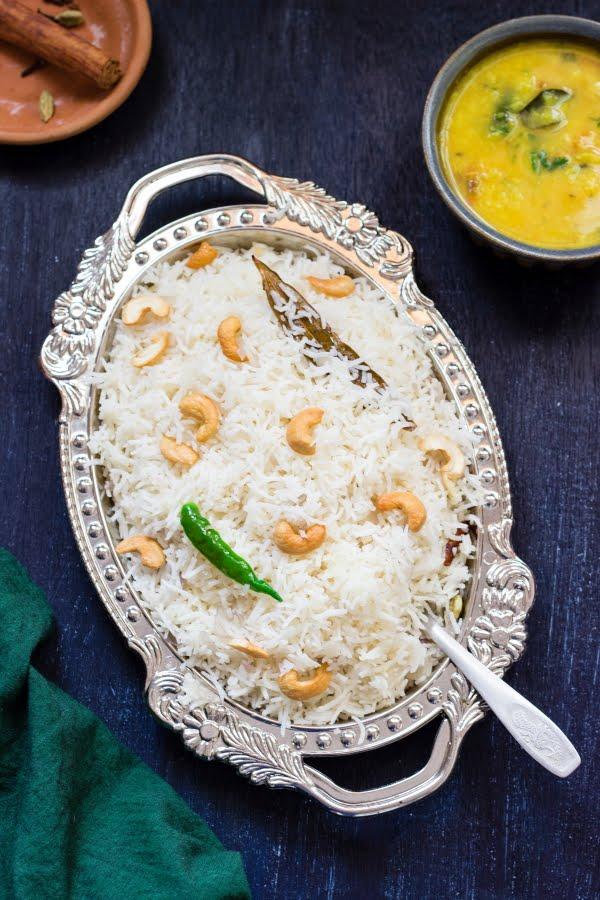 How to make ghee rice recipe at One Teaspoon Of Life www.oneteaspoonoflife.com