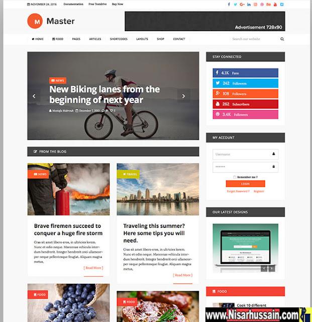 Master Premium Wordpress Theme Free Download