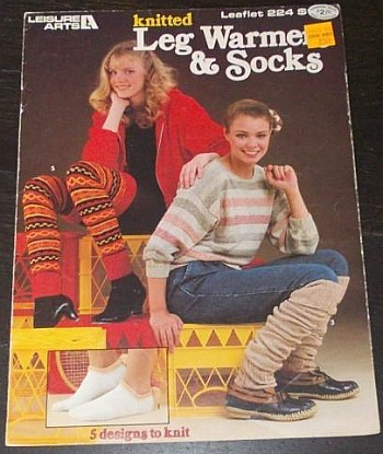 Ladies wearing knitted leg warmers in 1982