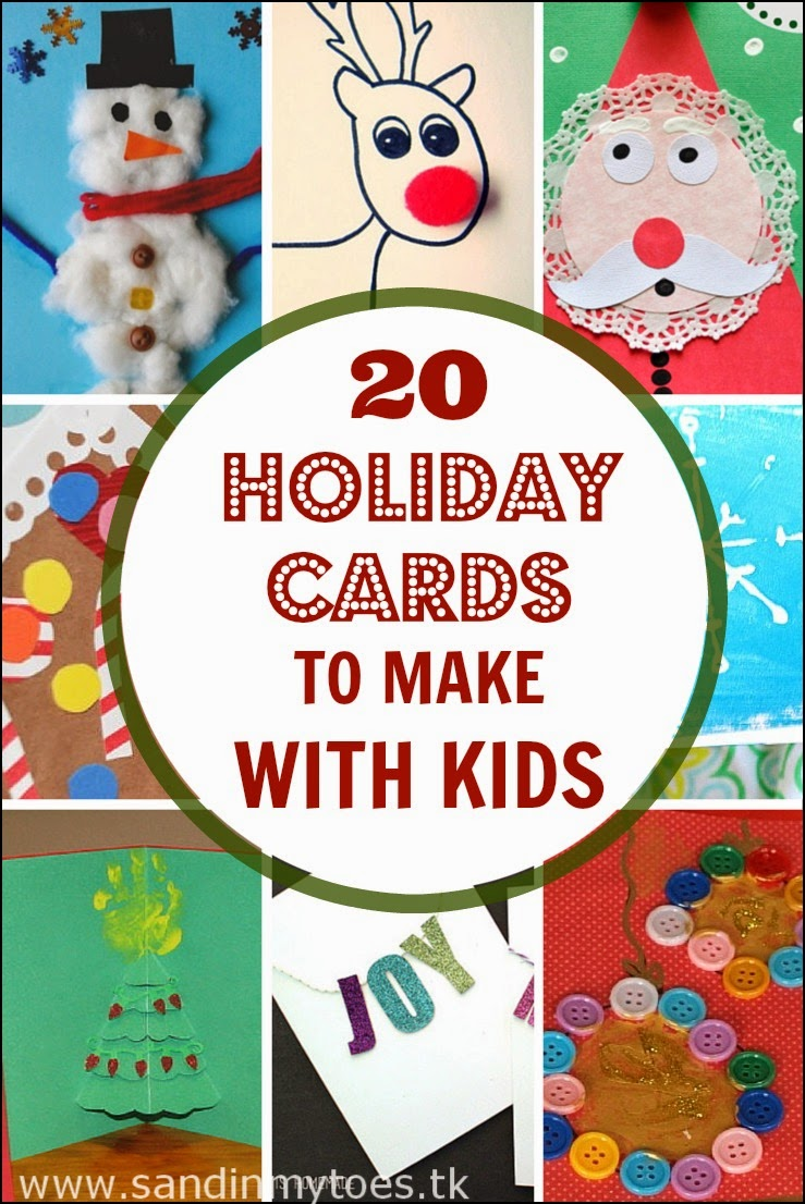 20 holiday or Christmas cards kids can make