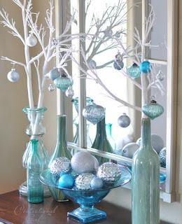 Ramas y floreros de cristal