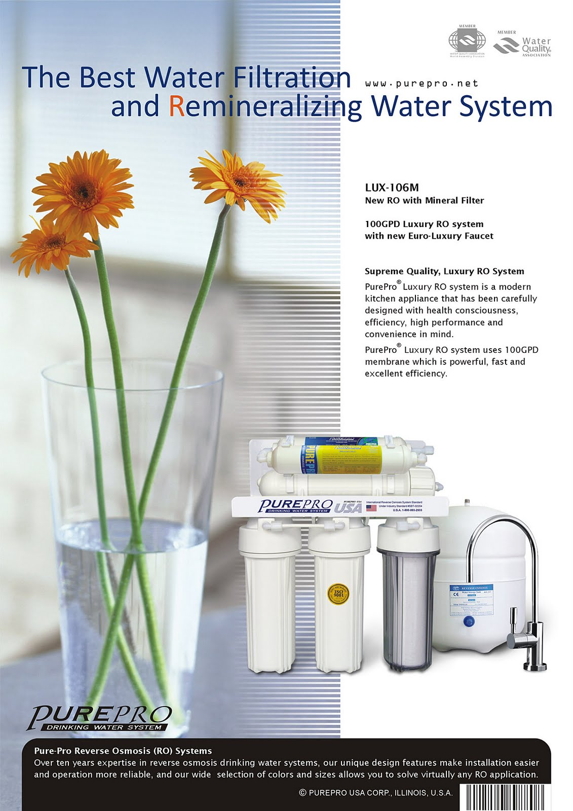 PurePro® Luxury Reverse Osmosis Water Filter System