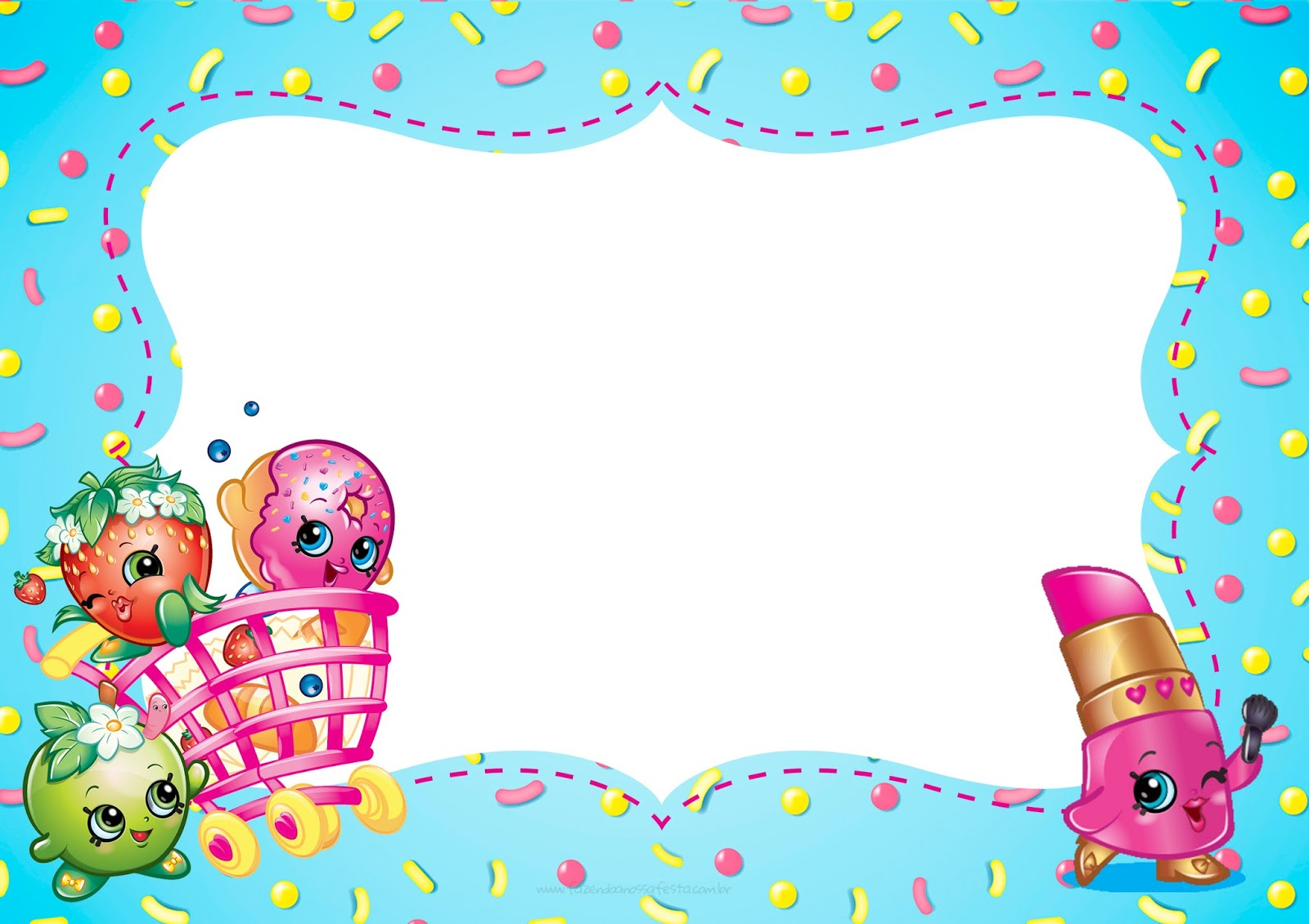 image relating to Shopkins Birthday Card Printable called Shopkins: Cost-free Printable Invites. - Oh My Fiesta! inside english