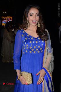 Telugu Actress Tejaswi Madivada Pos in Blue Long Dress at Nanna Nenu Na Boyfriends Audio Launch  0080.JPG