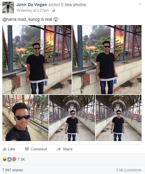 Netizens Got Angry With This Boy Who Took A Selfie Photo While A Building Behind Him Was Burning! You Have To See This!