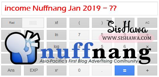 Hasil Income Nuffnang Untuk Blog Bagi Januari 2019 - Adakah Ini Bermakna Nuffnang Sudah Mula Kembali Hebat ?