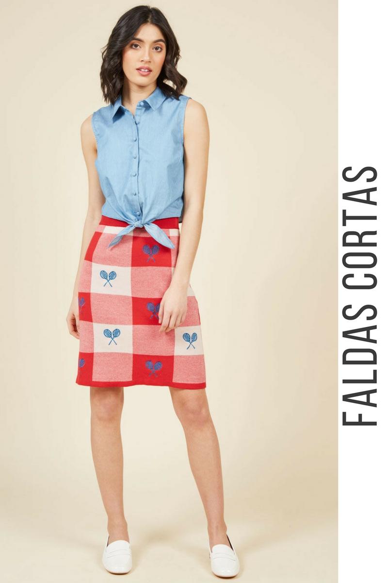 0d88a392e2 43 Modelos de Faldas Cortas que NO te Puedes Perder ¡Tendencias ...