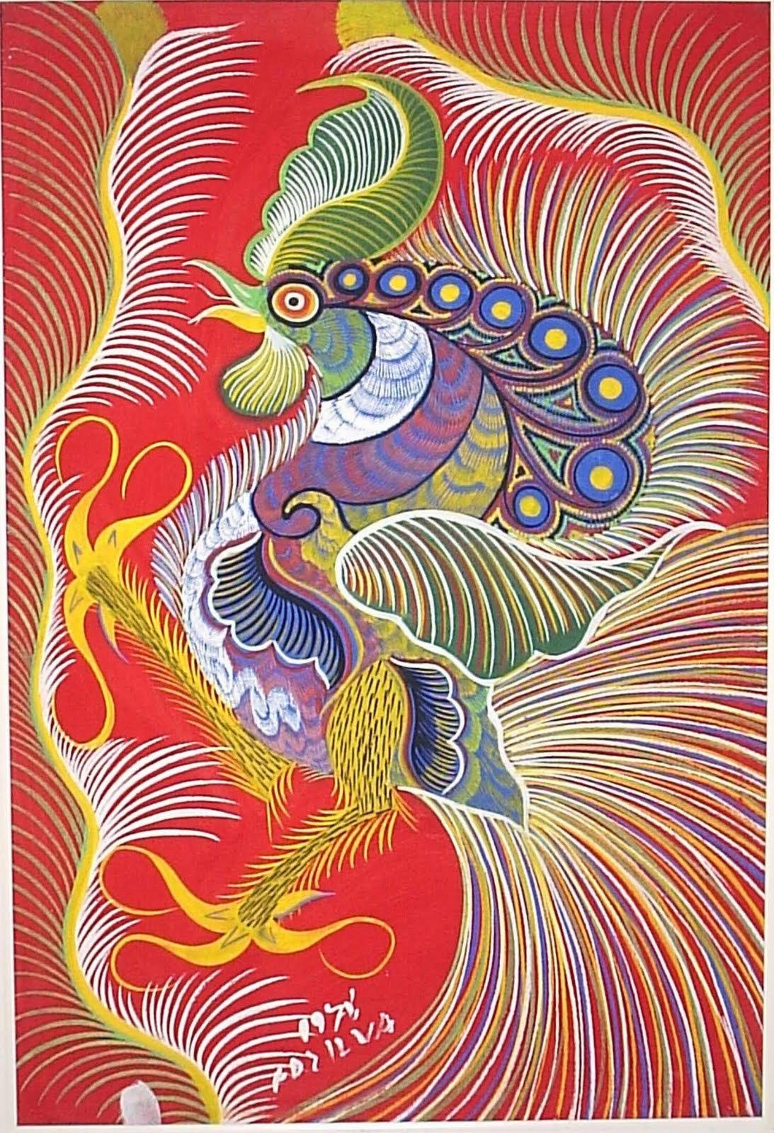 Galo - Chico da Silva e suas pinturas primitivista ~ Pintor brasileiro