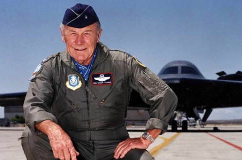 Chuck Yeager Fires Back At Hollywood Elites Over Moon Landing Movie – Then Twitter Censors US Flag