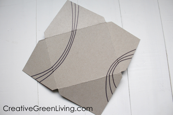 How to make an envelope for a card from recycled cereal box