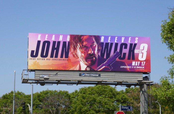 John Wick Chapter 3 film billboard