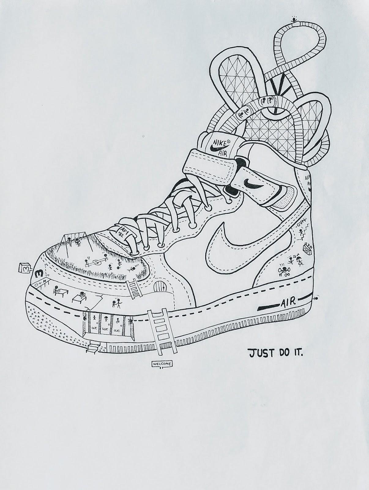 Por cerca educador  DIBUJO ARTÍSTICO 1. 2016-17: Nike Air Force 1 '07, Pau
