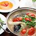 Canh cá lăng nấu hoa chuối hấp dẫn