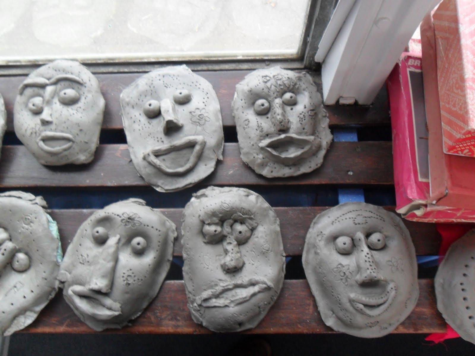 African Masks For Children Template