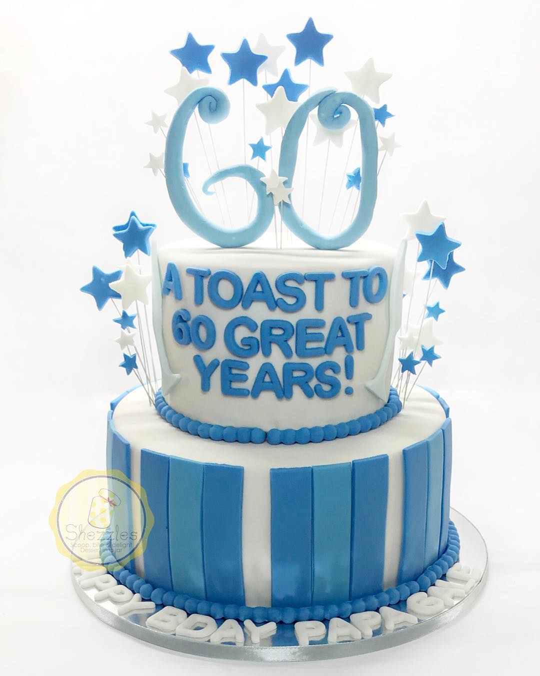 Marvelous Shezzles Cakes And Pastries A Toast To 60Th Birthday Cake Personalised Birthday Cards Paralily Jamesorg