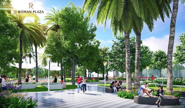 Không gian xanh chung cư Roman Plaza Hải Phát