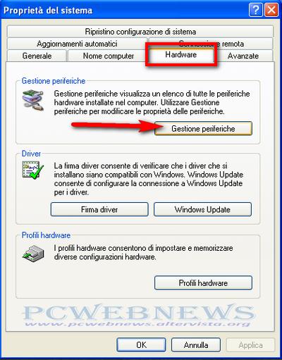Aggiornare o installare driver su Windows