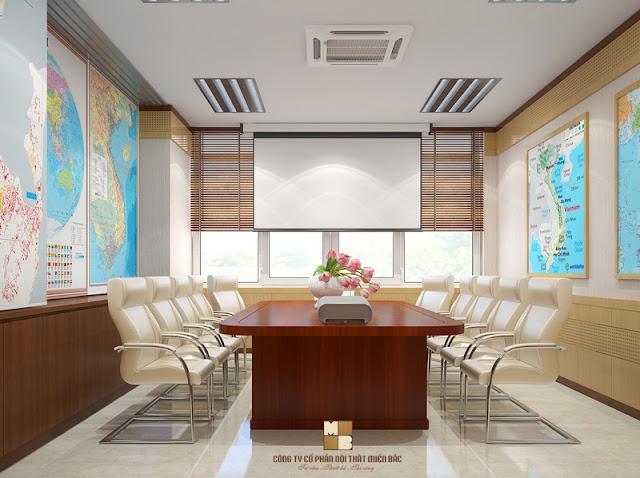 Thiết kế nội thất phòng họp cao cấp đảm bảo sự bố trí khoa học, tiện ích và linh hoạt, chất lượng các cuộc họp của doanh nghiệp cũng sẽ có sự thay đổi đáng kể