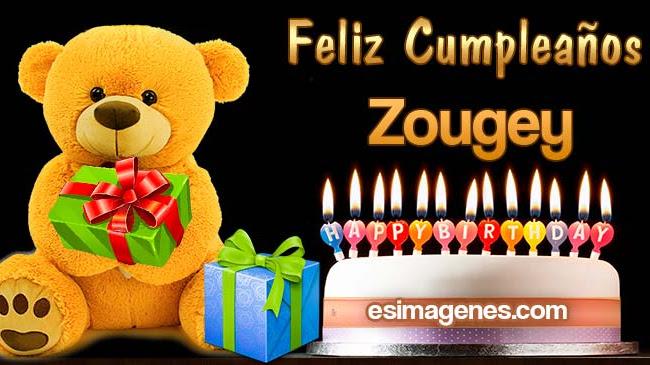 Feliz Cumpleaños Zougey