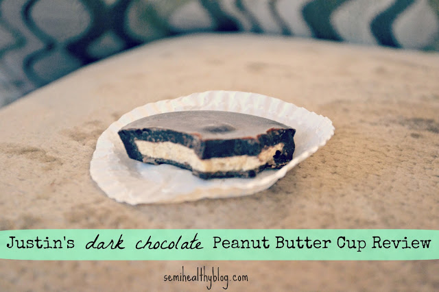 justin's dark chocolate peanut butter cup review