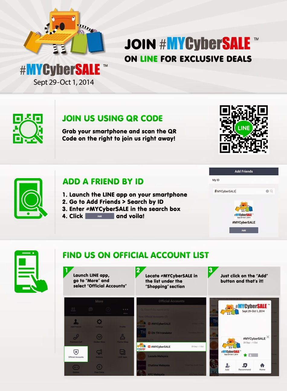 How to join #MYCyberSALE on LINE?