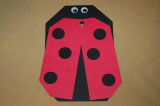 homemade ladybug bug birthday invitation