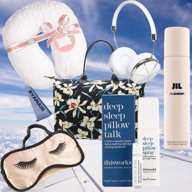 prepare long flight in-flight beauty essentials plane