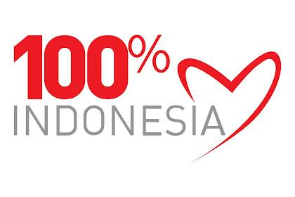 logo 100 persen Indonesia vektor