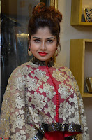 Anya South Actress model in Red Anarkali Dress at Splurge   Divalicious curtain raiser ~ Exclusive Celebrities Galleries 011.JPG