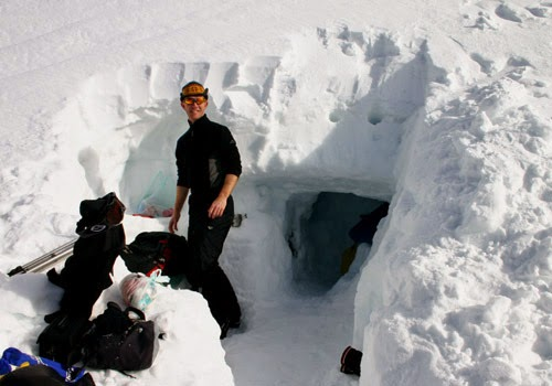 How to Build A Snow Cave to Keep Warm
