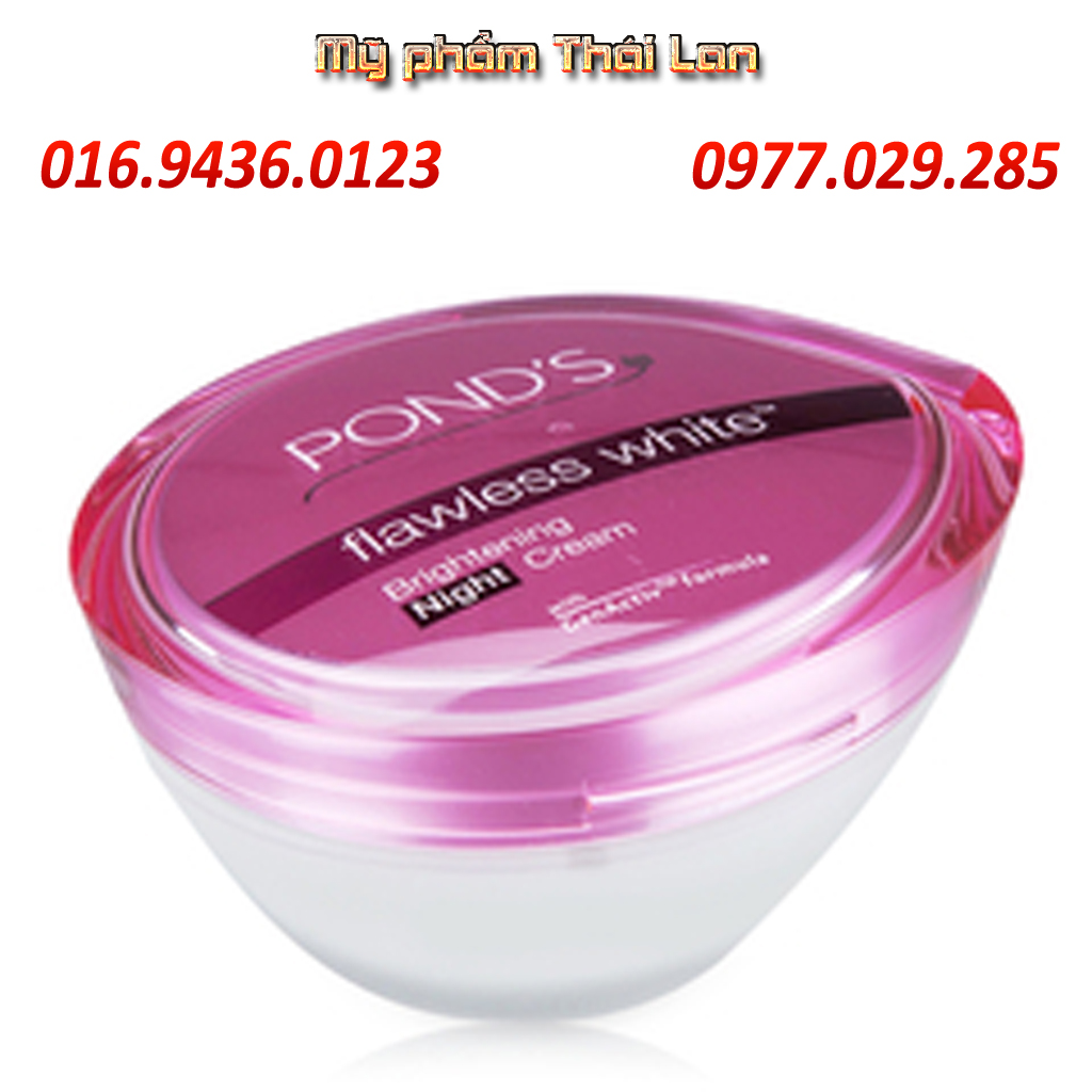 Kem Dng Trng Da Ponds Flawless Night Ca Hng Flawles Cream Dn S White Natural
