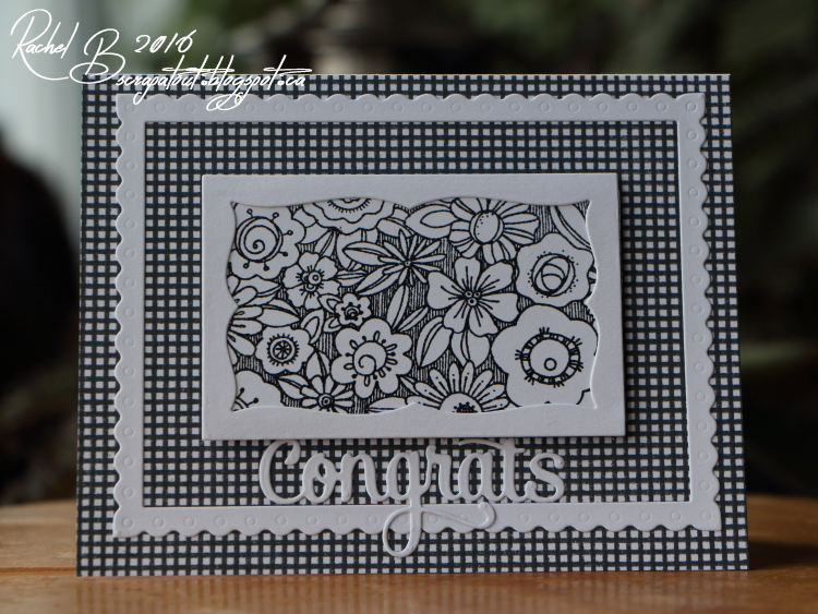 Scrapatout - Handmade card, Impression Obsession, Chunk O'Flowers, Cover-A-Card, Congrats