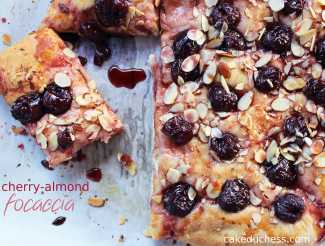 Cherry-Almond Focaccia - Savoring Italy