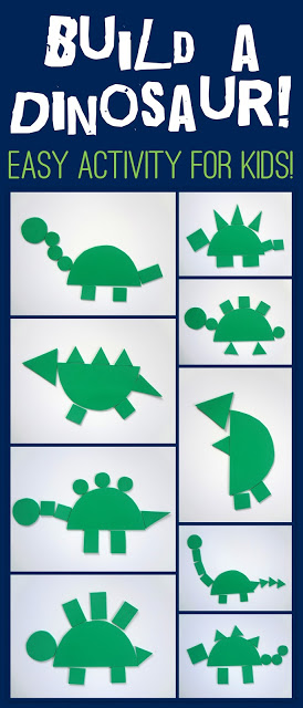 Or Use Some Glue On The Shapes And It Could Also Become A One Of A Kind Dinosaur Craft No Matter How You Use It This Simple Dinosaur Activity Will Produce