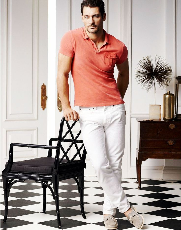 white pants with light red polo tshirt - Men's clothing ...