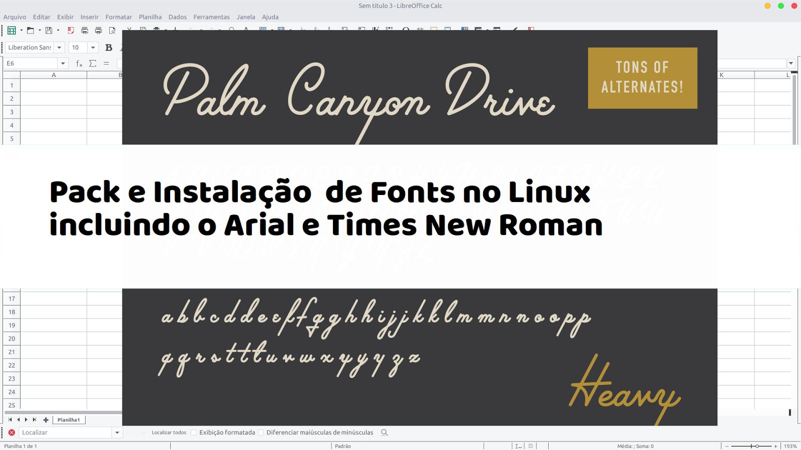 VÍDEO - Pack e Instalação de Fonts no Linux incluindo o Arial e Times New Roman