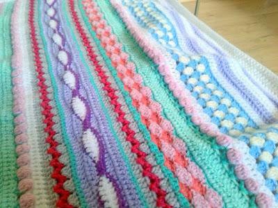 Crochet baby blanket colorful afghan