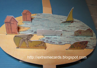beach pop up card