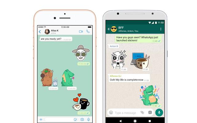 Cara Mengirim Stiker di WhatsApp Android dan iOS