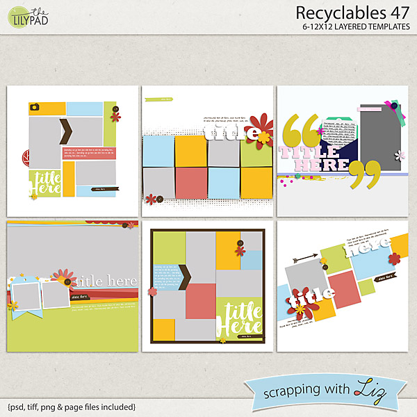 http://the-lilypad.com/store/Recyclables-47-Digital-Scrapbook-Templates.html